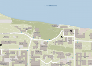 Screen shot of the campus map