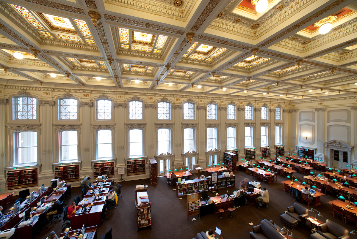 Reading room at the Wisconsin Historical Society