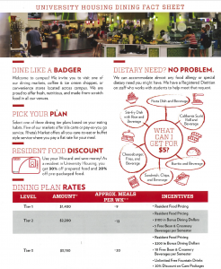 Cover of University Housing Dining Fact Sheet